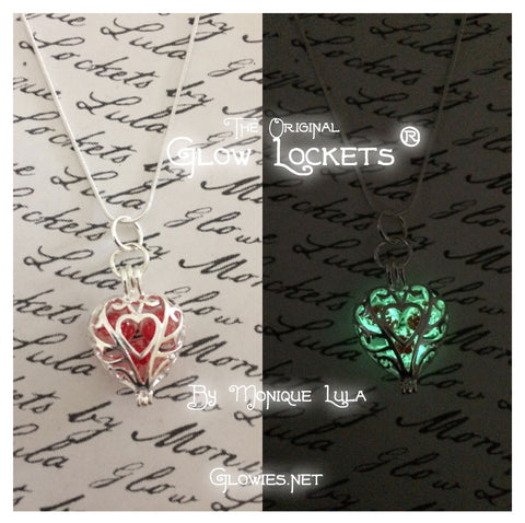Queen of Hearts Galaxy Glow in the dark Necklace