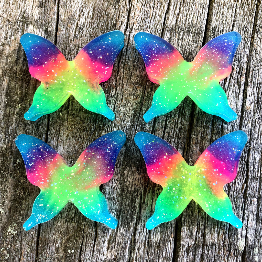 Rainbow Glow Butterfly Necklace