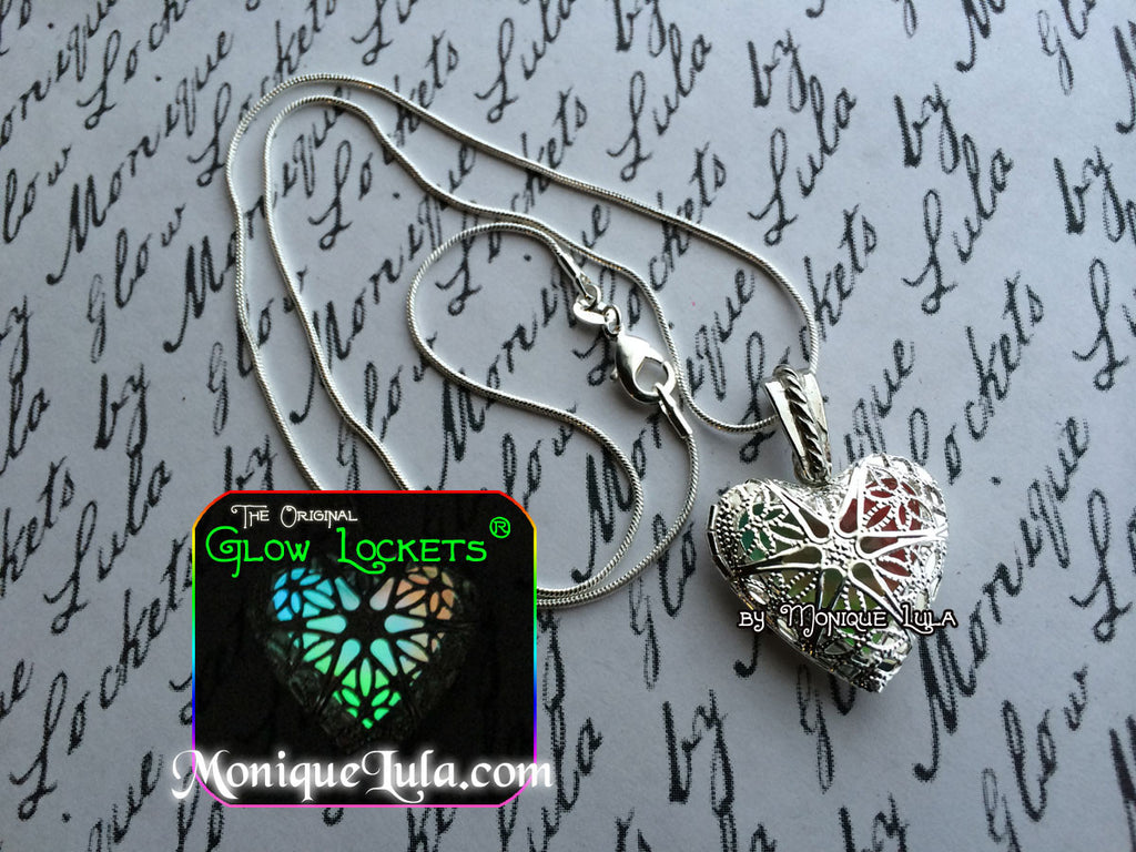 Rainbow Heart Glow Locket