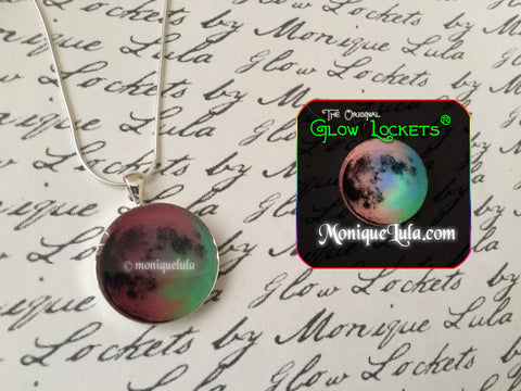 Rainbow Full Moon Glowing Necklace