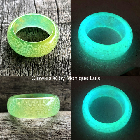 Art Swirl Glow in the dark Ring