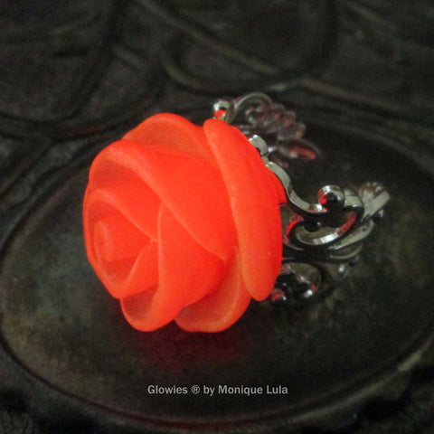Glowing Rose Ring Glow Flower
