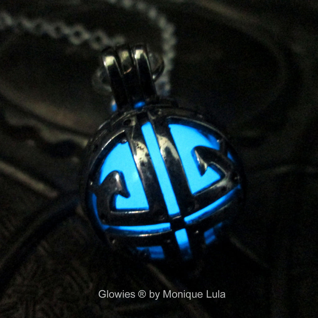 Sci-Fi Glowing Orb Necklace