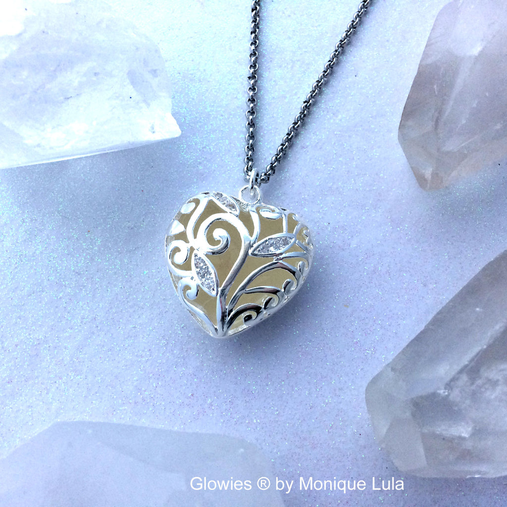 Secret Glow Heart Necklace