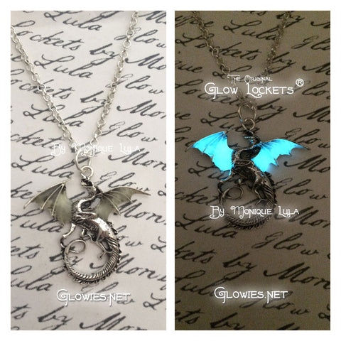 Dragon with Glowing Wings Necklace