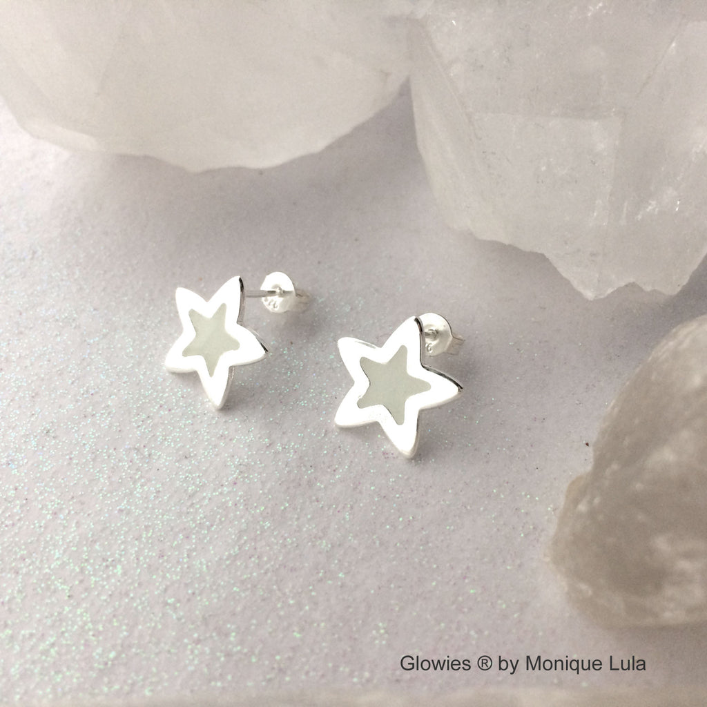 Glow in the dark Star Post Earrings