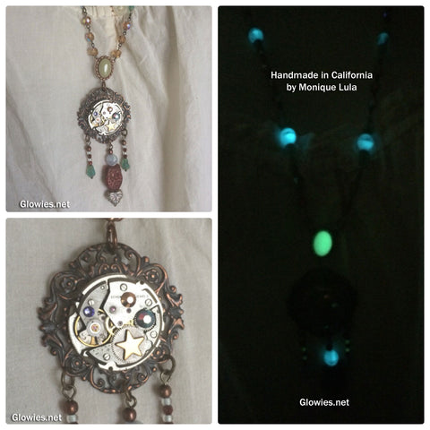 Steampunk Goddess Glow Necklace