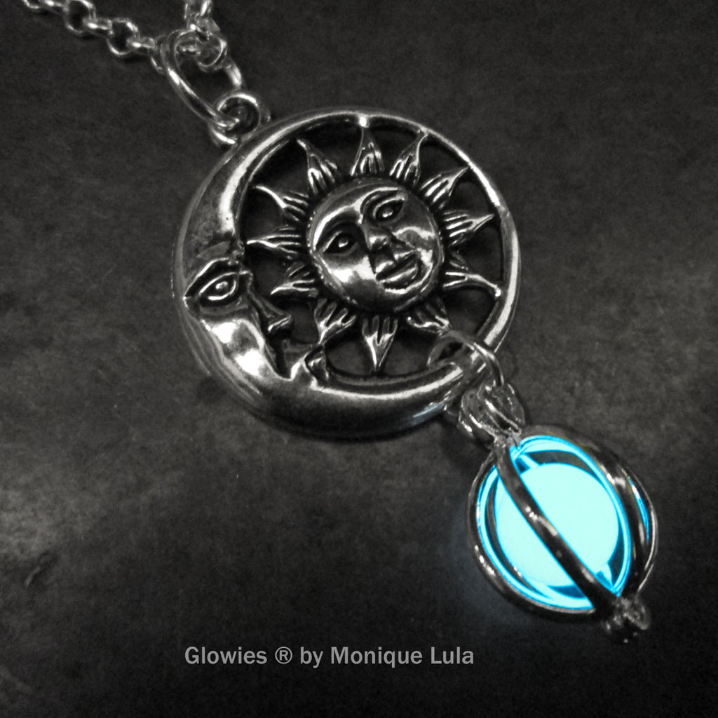 Sun & Moon Glow Orb Necklace