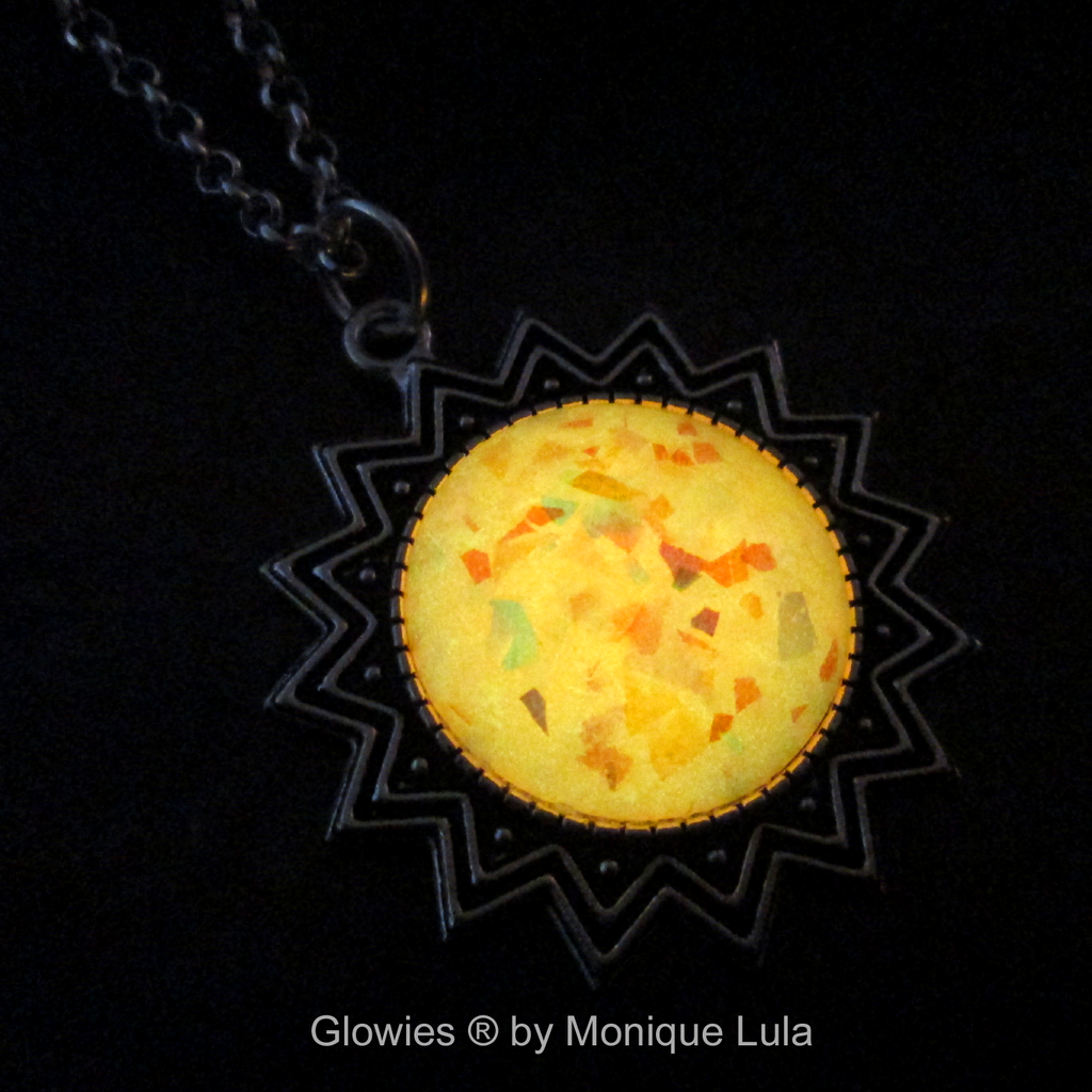 Fire Opal Glowing Sun Necklace