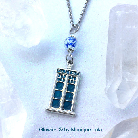 Tardis Glow Orb Necklace