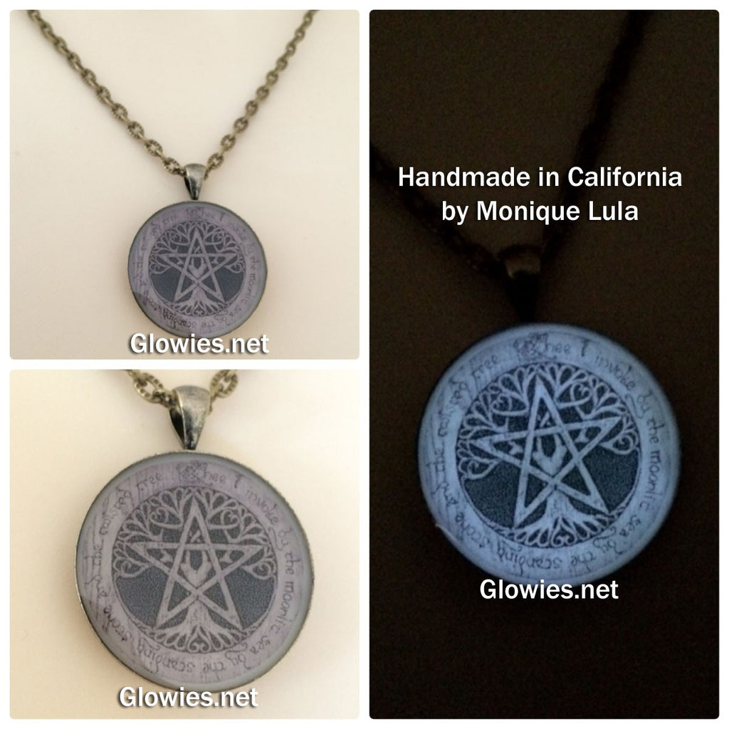 Thee I Invoke Pentacle Star & Tree Glow Necklace