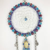 Goddess Face Moon and Star Glowie Dreamcatcher 5 inch