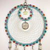 Crescent Star Quartz Crystal Dreamcatcher