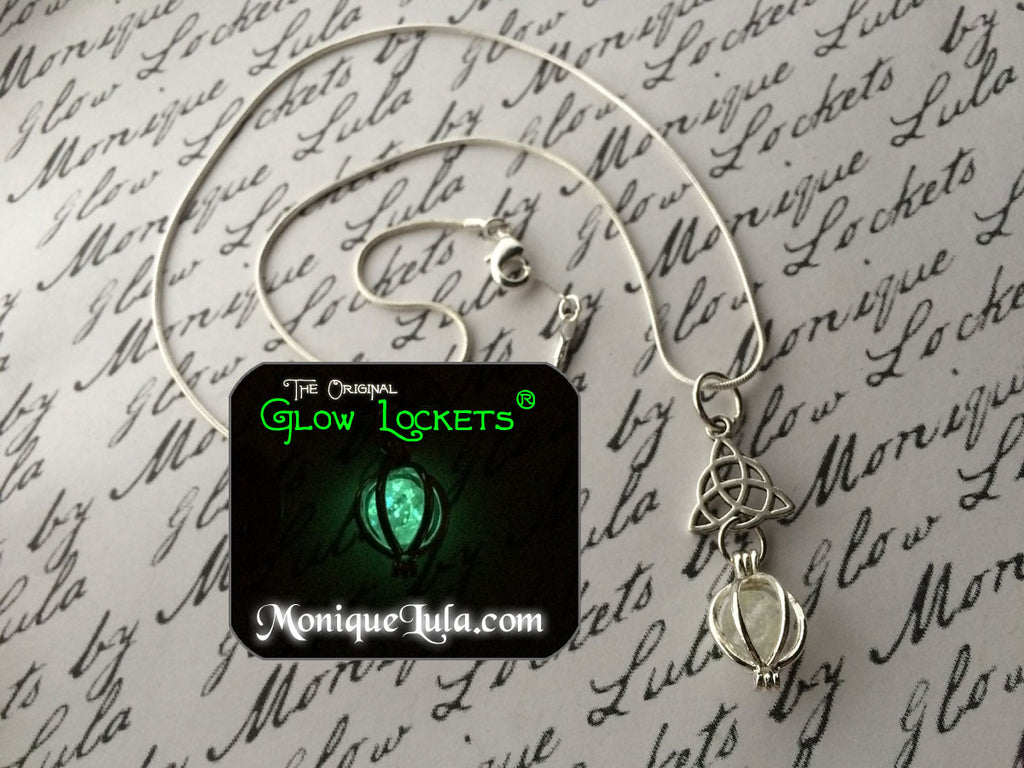 Triquetra Glowing Orb Necklace