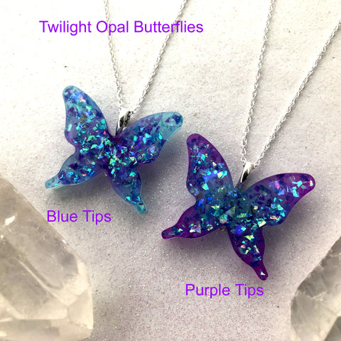3d Glow in the dark Butterfly Necklace