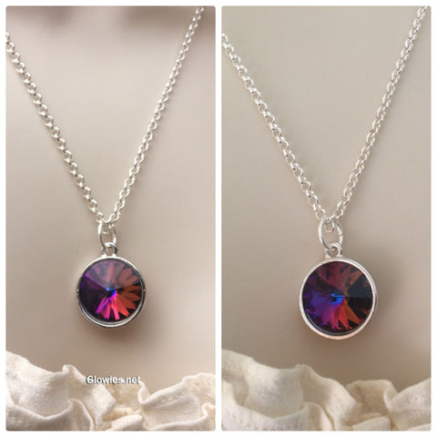 Volcano Crystal Necklace with Glow Star