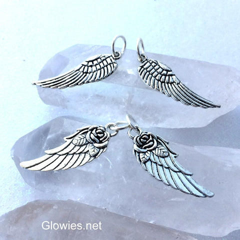 Wing Charm Angel Rose Bird Charms
