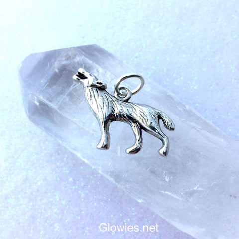 Howling Wolf Charm