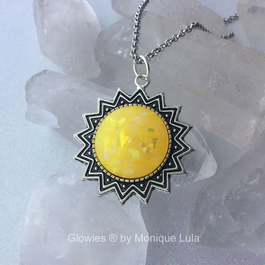 Opal Glow Sun Necklace