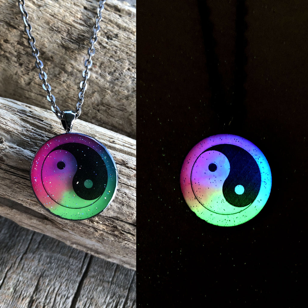 Yin Yang Glow Art Necklace