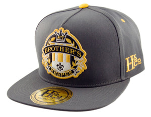My Brother's Keeper Strapback Cap - Dark Grey/Gold - HATCOcaps.com  - 1