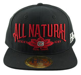 All Natural Snapback Cap - Black - HATCOcaps.com  - 2