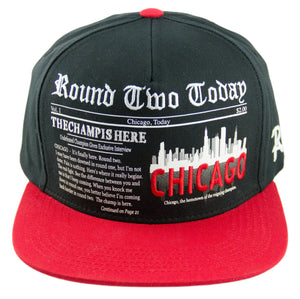 Round Two Today - Chicago - Snapback Cap - HATCOcaps.com  - 1