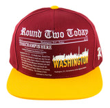 Round Two Today - Washington - Snapback Cap - HATCOcaps.com  - 1