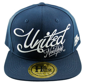 United New York Snapback Cap - Navy - HATCOcaps.com  - 2