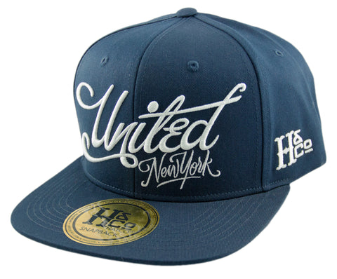 United New York Snapback Cap - Navy - HATCOcaps.com  - 1