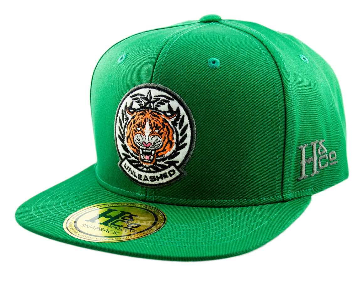 Unleashed Tiger Snapback Cap - Kelly Green - HATCOcaps.com  - 1
