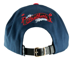 My Brother's Keeper Strapback Cap - Navy/Red - HATCOcaps.com  - 3