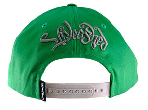 Unleashed Tiger Snapback Cap - Kelly Green - HATCOcaps.com  - 3