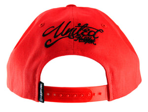 United New York Snapback Cap - Red - HATCOcaps.com  - 3