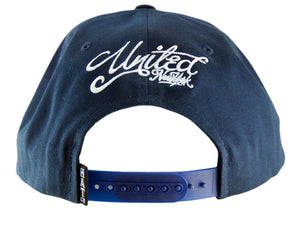 United New York Snapback Cap - Navy - HATCOcaps.com  - 3