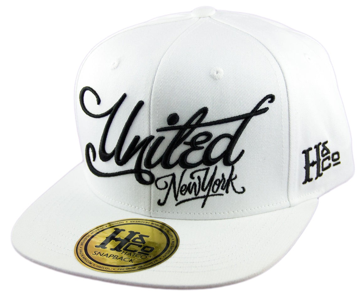 United New York Snapback Cap - White - HATCOcaps.com  - 1