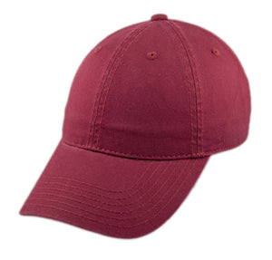 Blank Heavy Washed Cotton Cap - Burgundy