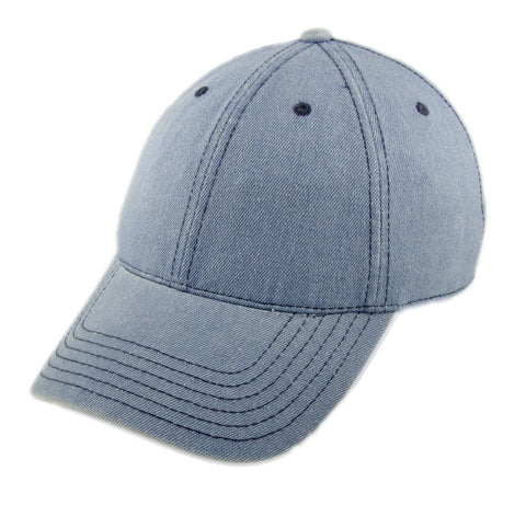 Blank Heavy Washed Cotton Cap - Denim Sky Blue