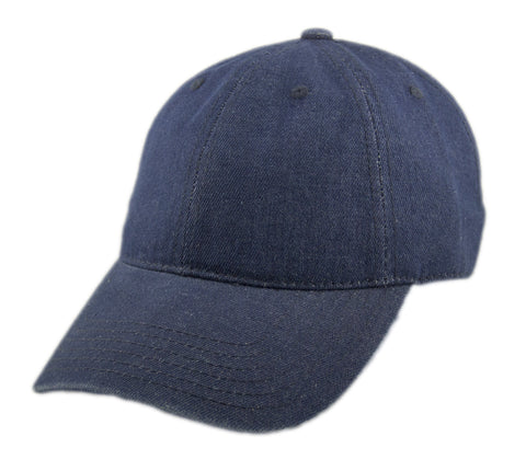 Blank Heavy Washed Cotton Cap - Denim Navy
