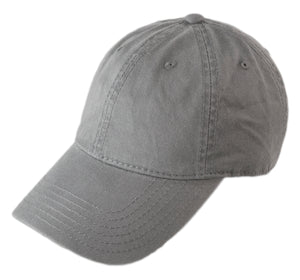 Blank Heavy Washed Cotton Cap - Dark Grey
