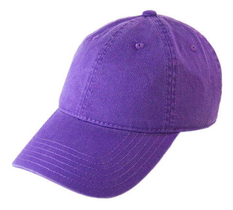 Blank Heavy Washed Cotton Cap - Purple