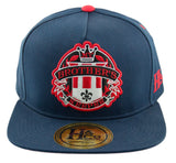 My Brother's Keeper Strapback Cap - Navy/Red - HATCOcaps.com  - 2