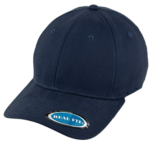 Blank Stretch Fit Cap - Real Fit - Navy - HATCOcaps.com  - 1