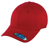 Blank Stretch Fit Cap - Real Fit - Red - HATCOcaps.com  - 1