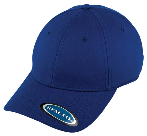 Blank Stretch Fit Cap - Real Fit - Royal - HATCOcaps.com  - 1