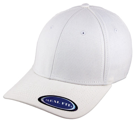Blank Stretch Fit Cap - Real Fit - White - HATCOcaps.com  - 1