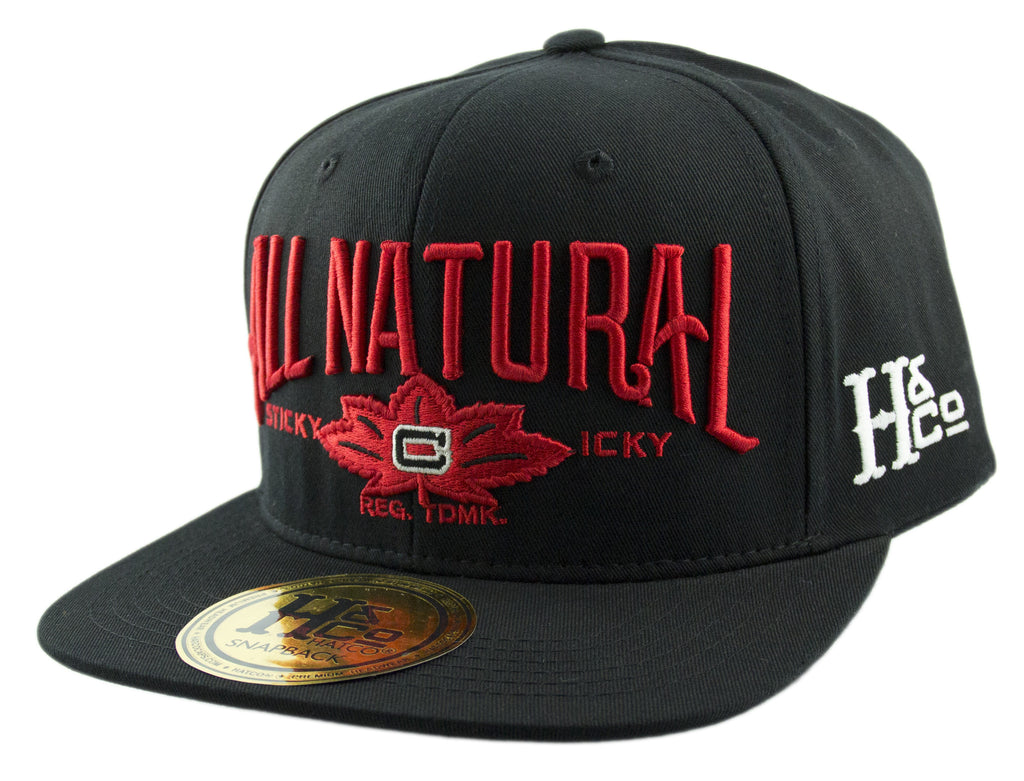 All Natural Snapback Cap - Black - HATCOcaps.com  - 1
