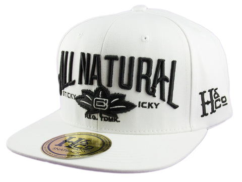 All Natural Snapback Cap - White - HATCOcaps.com  - 1