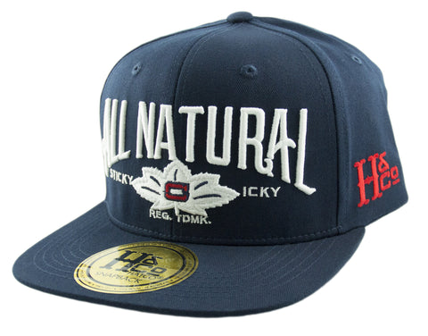 All Natural Snapback Cap - Navy - HATCOcaps.com  - 1
