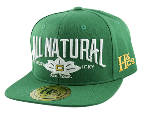 All Natural Snapback Cap - Kelly Green - HATCOcaps.com  - 1